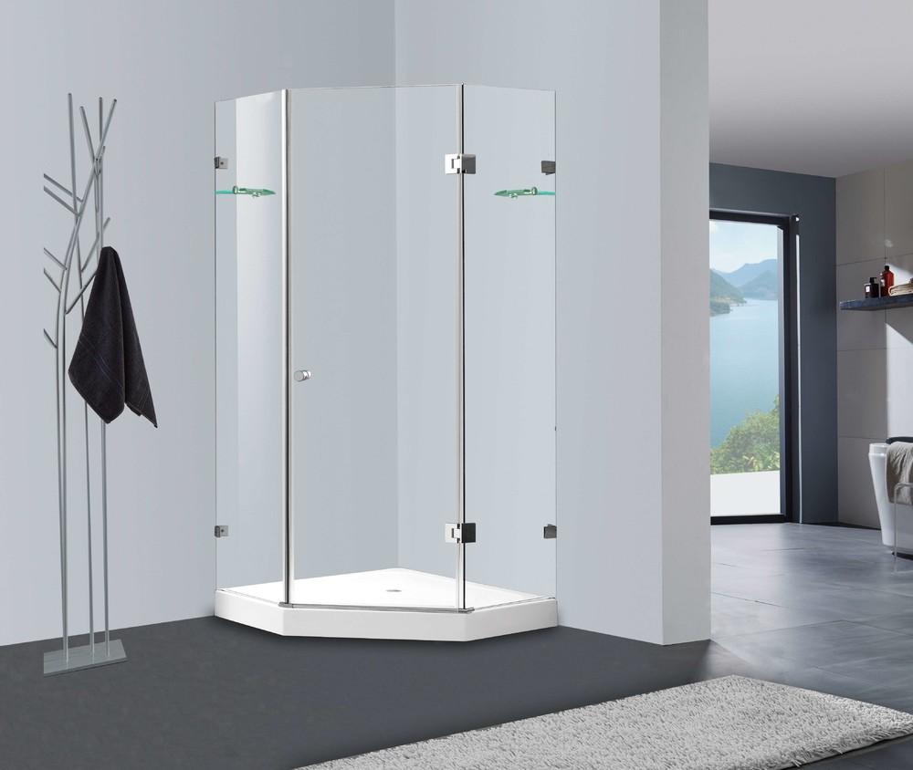 Frame-less bypass sliding tempered glass shower door Australia market CBM-JL0712