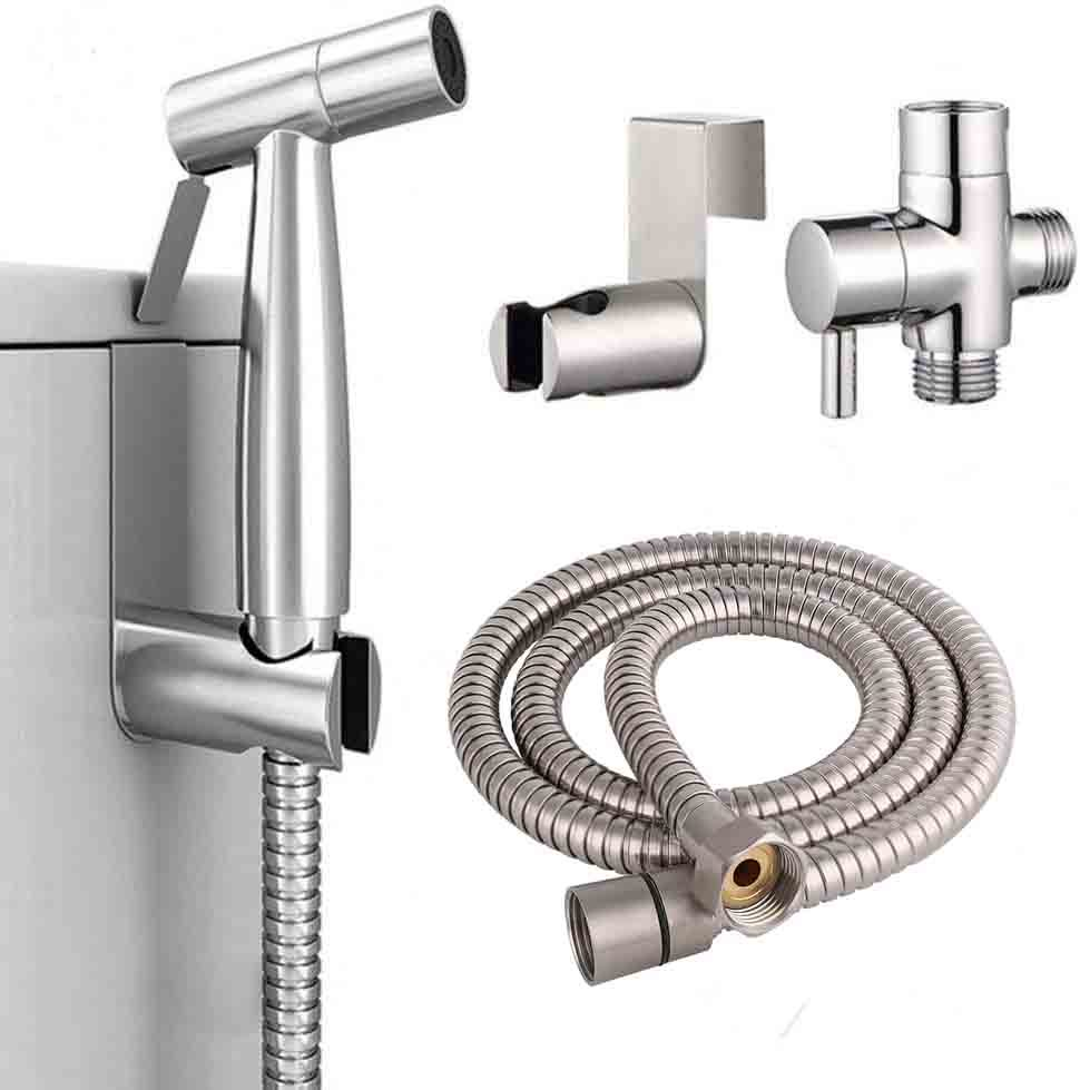 Stainless Steel Toilet Faucet bidet sprayer with faucet Bath & Shower divert