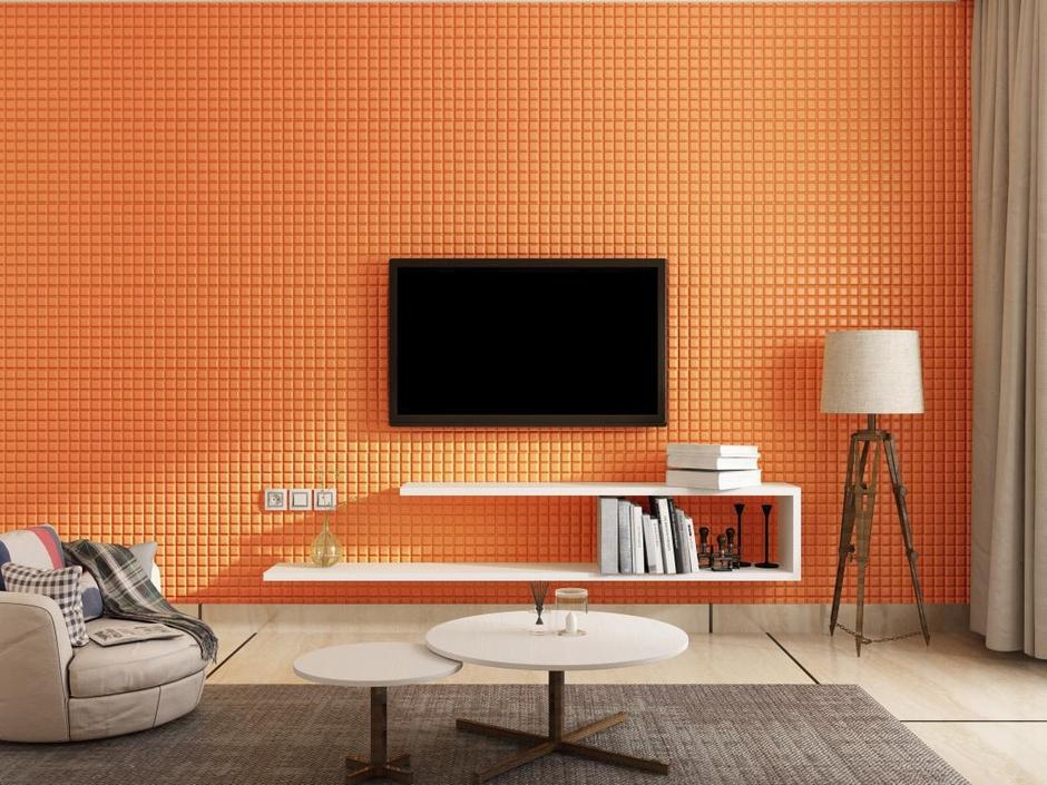 Small cube pattern mosaic wall panel 70x77cm