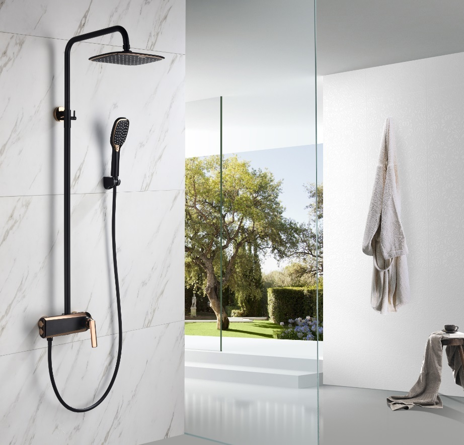 Chrome Tap Shower Panel Mixer Thermostatic Faucet Sale Ceramic Style Brass Surface Finish Pcs Slide Handle Feature Screw Water