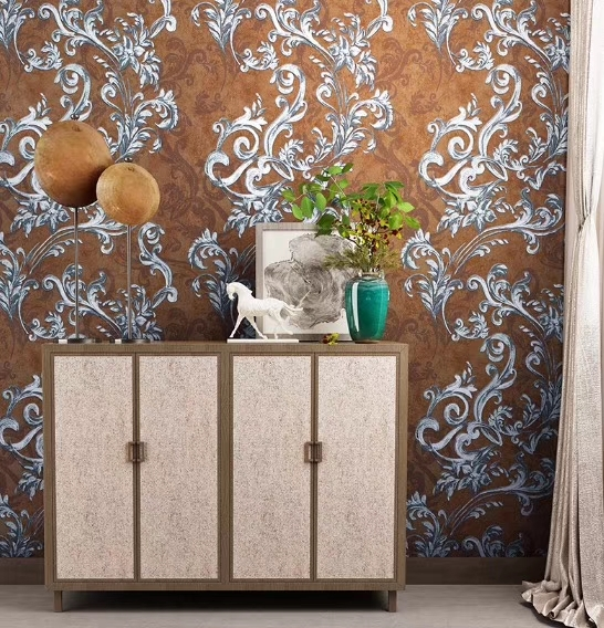 Flower pattern luxury wallpaper self adhesive