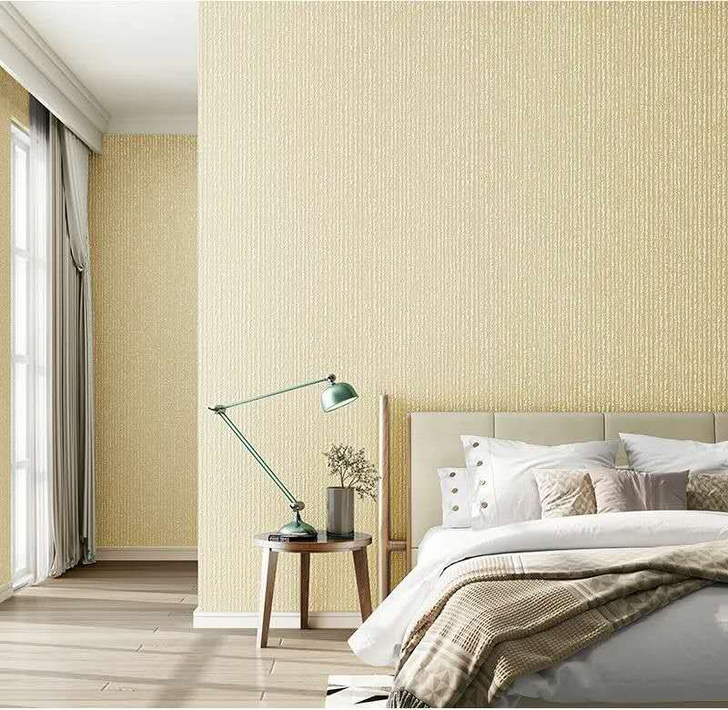 Pure color non-woven wallpaper peel and stick