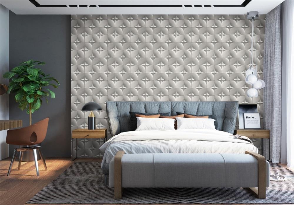 PVC customized design space illusion wallpaper