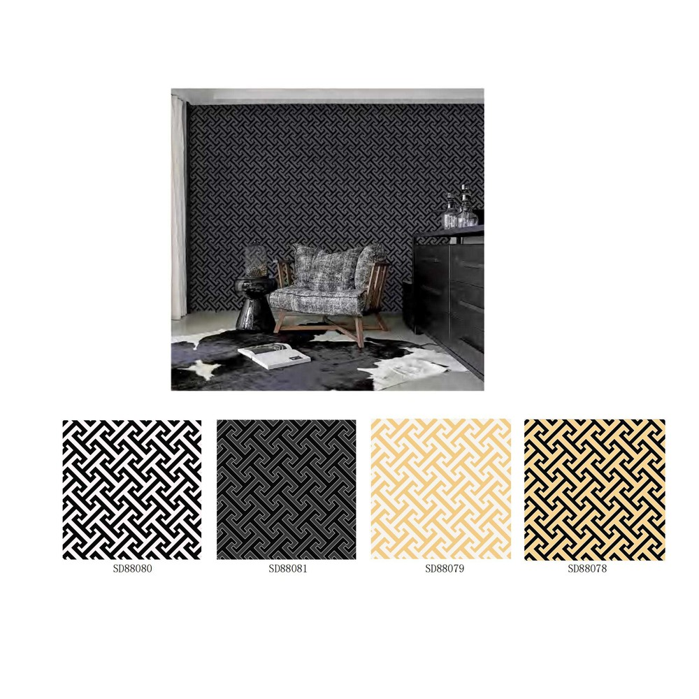 Waterproof self adhesive wallpaper non-woven printed paper