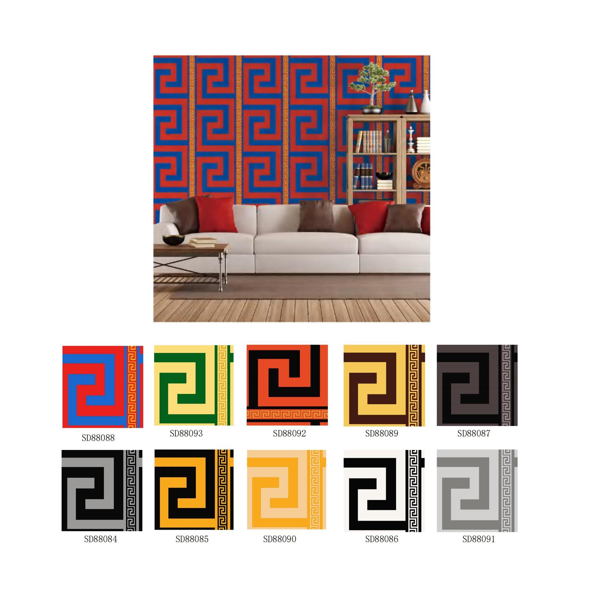 labyrinth design living room background wallpaper