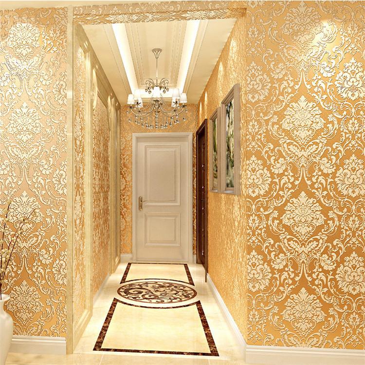 Simple European-style luxury non-woven wallpaper