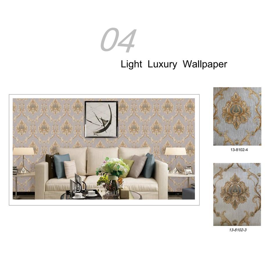 Modern luxury European style wall decoration wallpaper