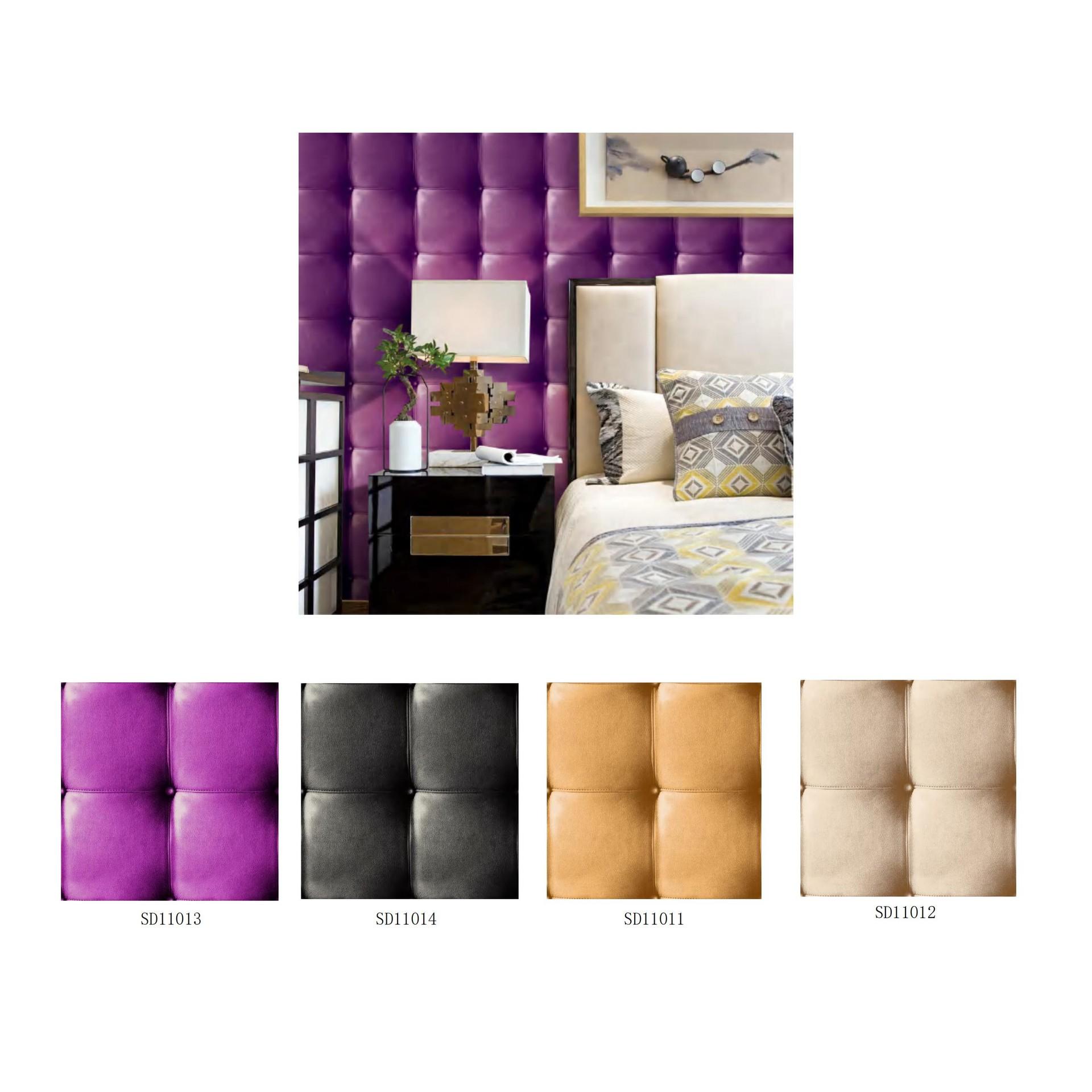 Vinyl imitated sofa background 3D wallpaper cladding