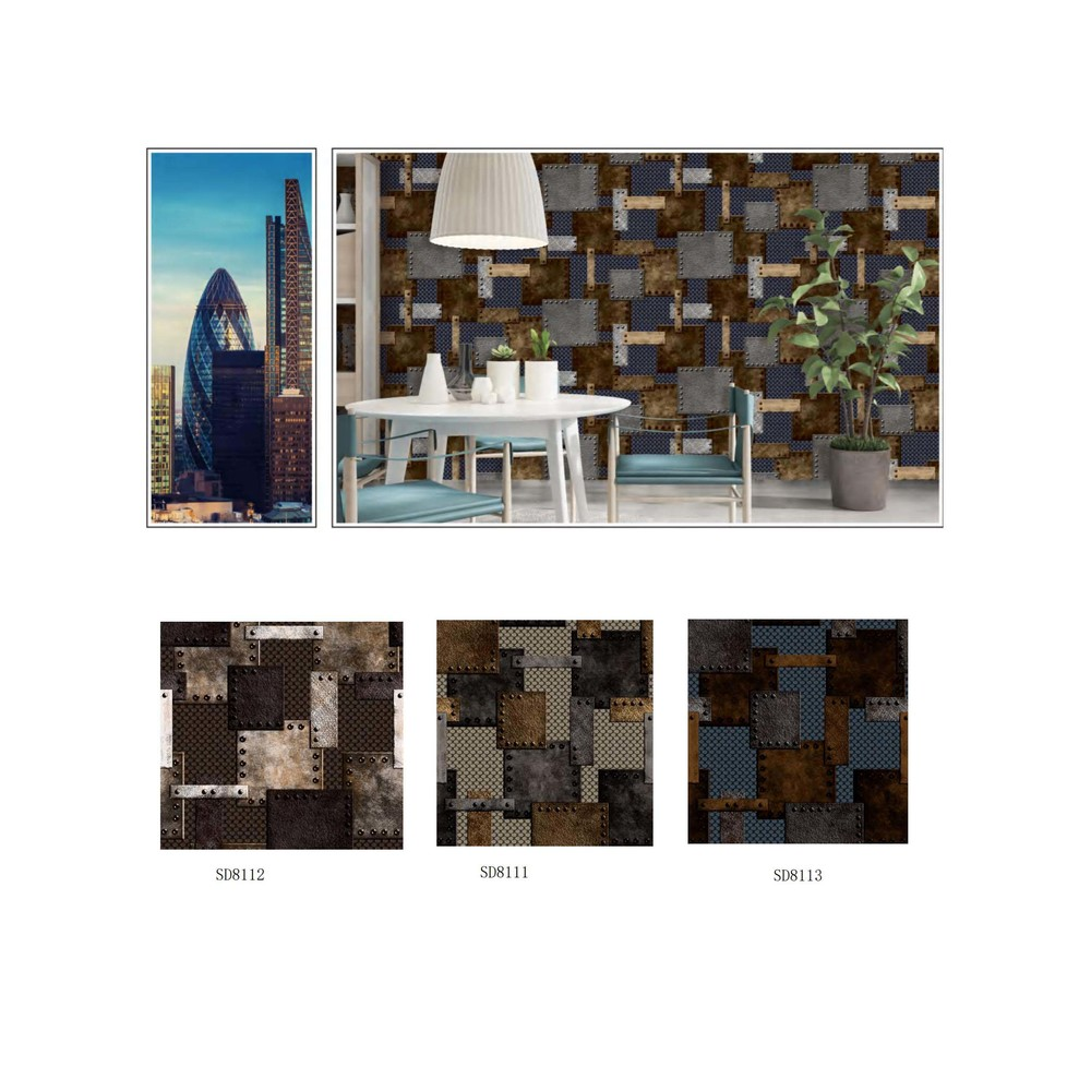 3D Modern industry style metallic wallpaper