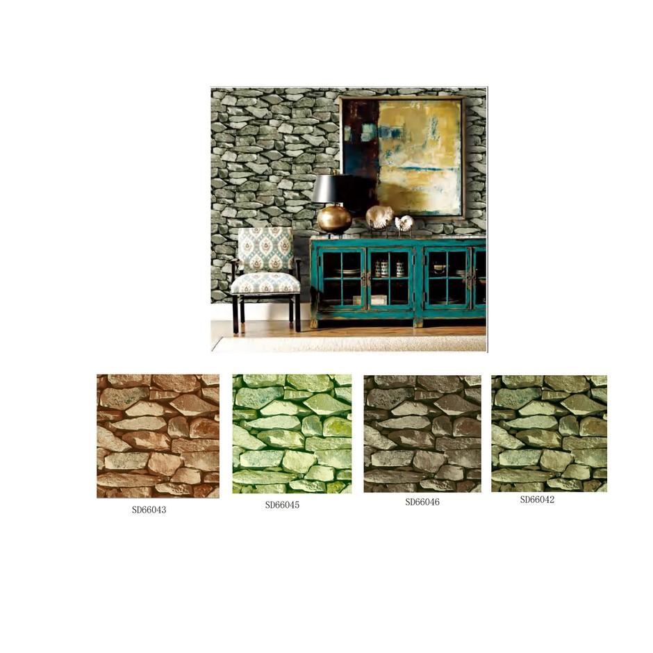 3D brick wallpaper home decoration 3d stone wallpaper