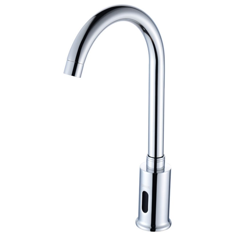 Sensor Automatic Commercial Touchless Faucet Motion Activated Hands Free Sink Tap with Control Box,Polish Chrome Finish