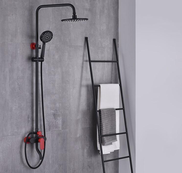 CBM three functions shower set 9 inch ABS head shower shower column shower set in bathroom