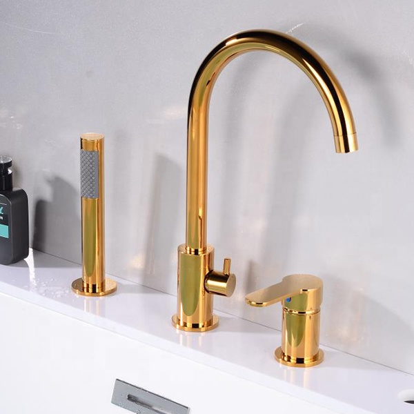 CBM bathtub faucet classic luxury three hole athroom bathtub with shower hand