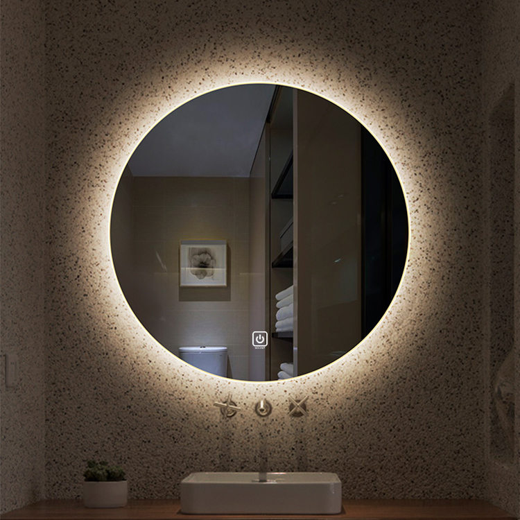 Anti-fog round shape LED mirror Backlit Bathroom Mirror With Bluetooth speaker