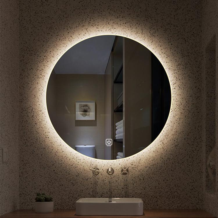 Anti-fog round shape LED mirror Backlit Bathroom Mirror With Bluetooth speaker