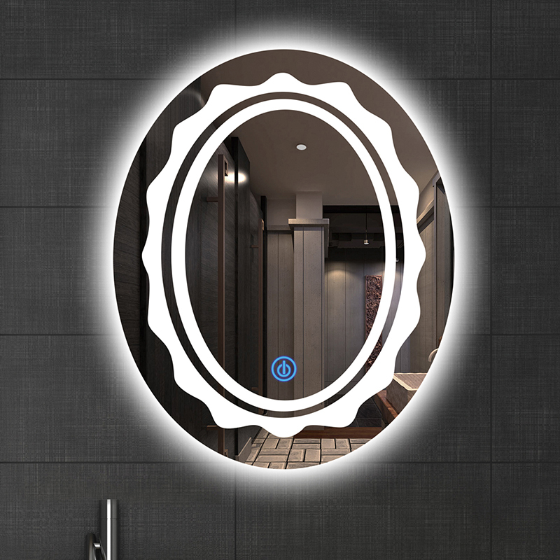 Oval New Designs Top Sale Waterproof Mirror  Led   Mirror for Bathroom