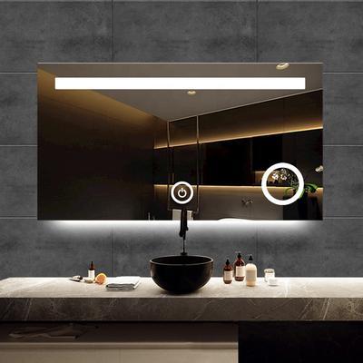 Modern Anti Explosion Light Frameless  Bathroom Smart Mirror Led