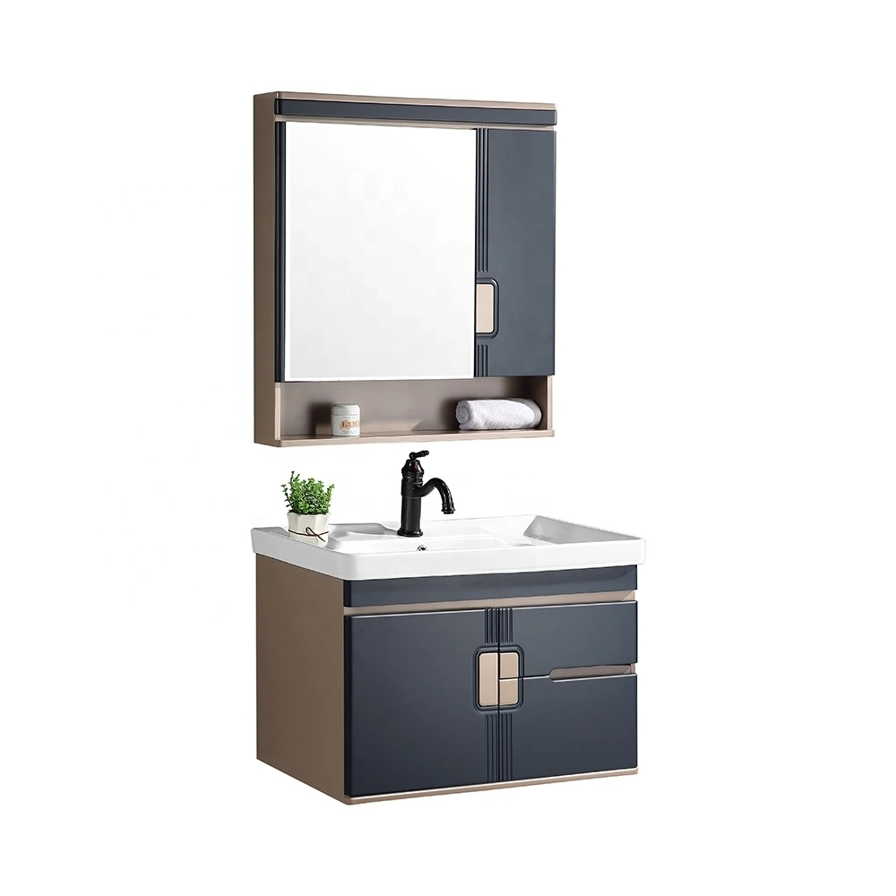 CBM pvc bathroom cabinet vanities furniture modern PVC bathroom sink and cabinet combo