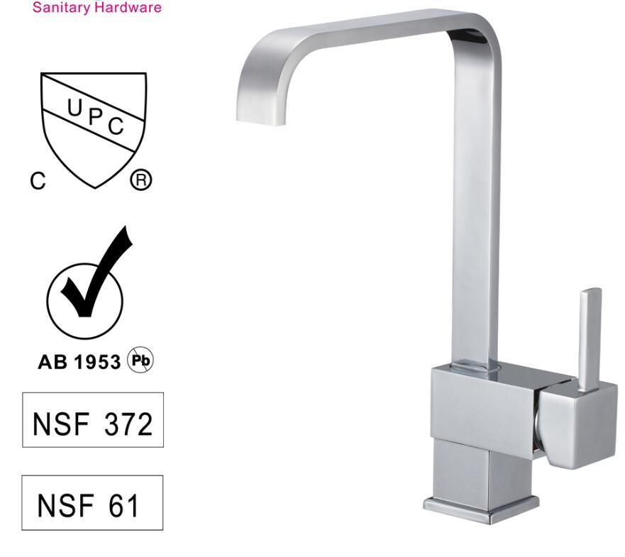 CBM Water Kitchen Sink Faucet Waterfall design Best Single Hole Kitchen Faucets  CUPC Watermark CE certification CBM-82H08G