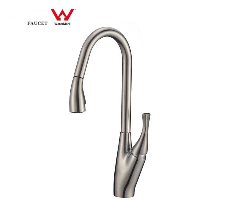 CUPC flexible Brushed Nickel Chrome kitchen faucet Pull Down Kitchen Water Faucet  Classic style Single Handle Pull out Kitchen Faucet brass Water Tap with Certification CBM-82H24-A