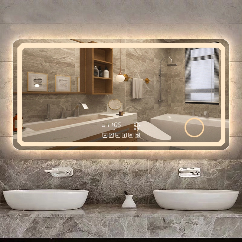 Modern design High quality IP44 Wall Mounted LED Bathroom Mirror