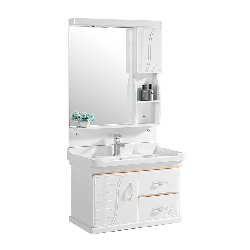 CBM new style pvc bathroom wash basin cabinet