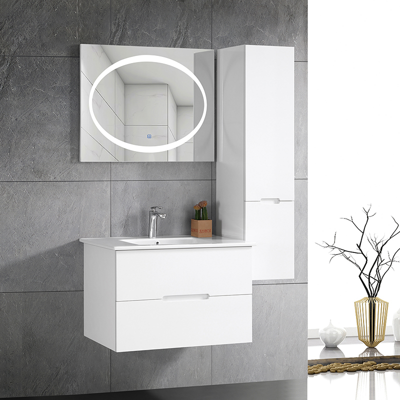 CBM Most fashionable mirrored cabinet factory with washbasin and LED mirror