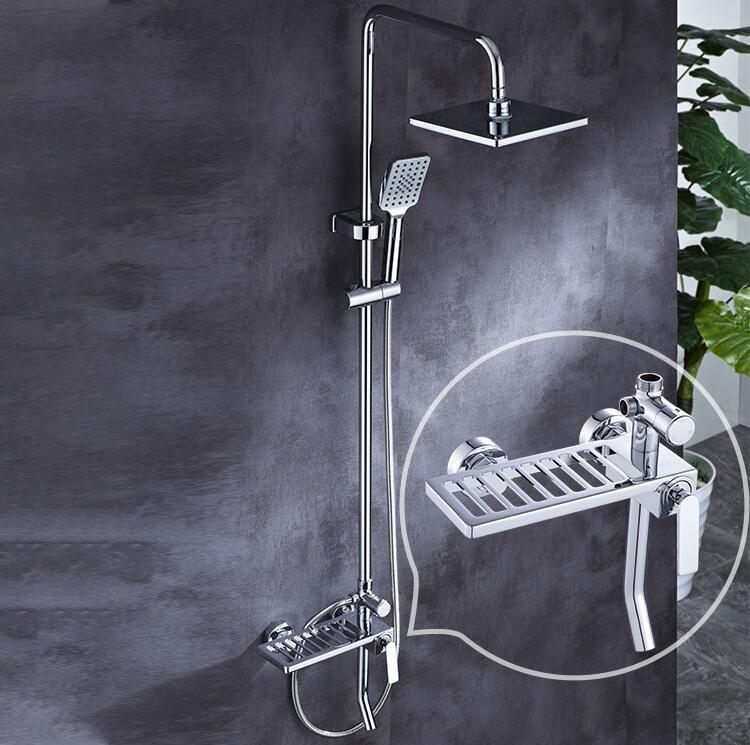 CBM 3 in 1 Shower Mixer High Quality High Pressure Brass Chrome bathroom shower set bathroom shower set with rack DG