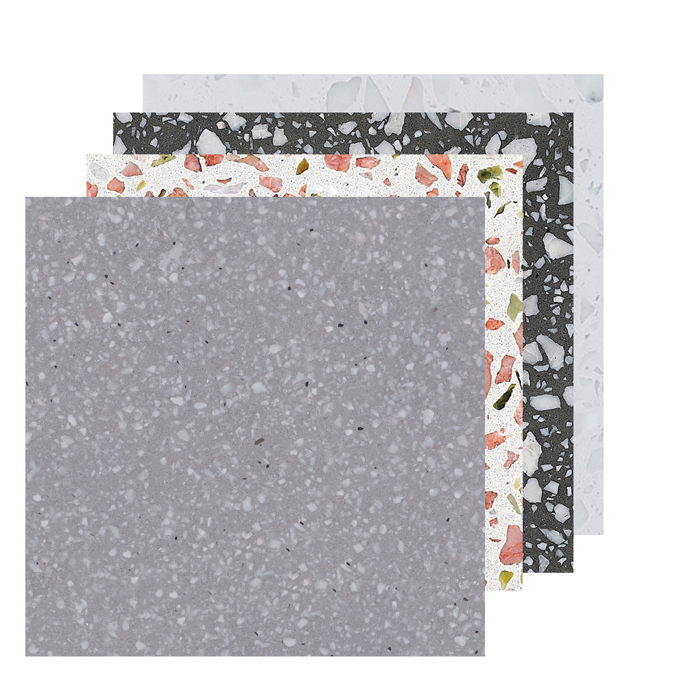 Terrazzo floor tiles 600x600 glazed porcelain rustic tiles