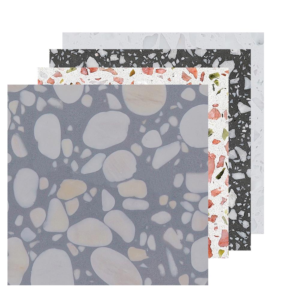 Terrazzo tile porcelain flooring rustic tile 600x600mm