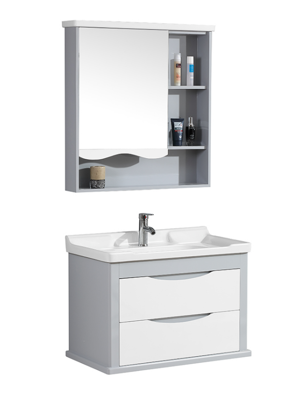 CBM New Design Single Sink Water Resistant Toilet Furniture Modern Basin Bathroom Vanity Cabinets
