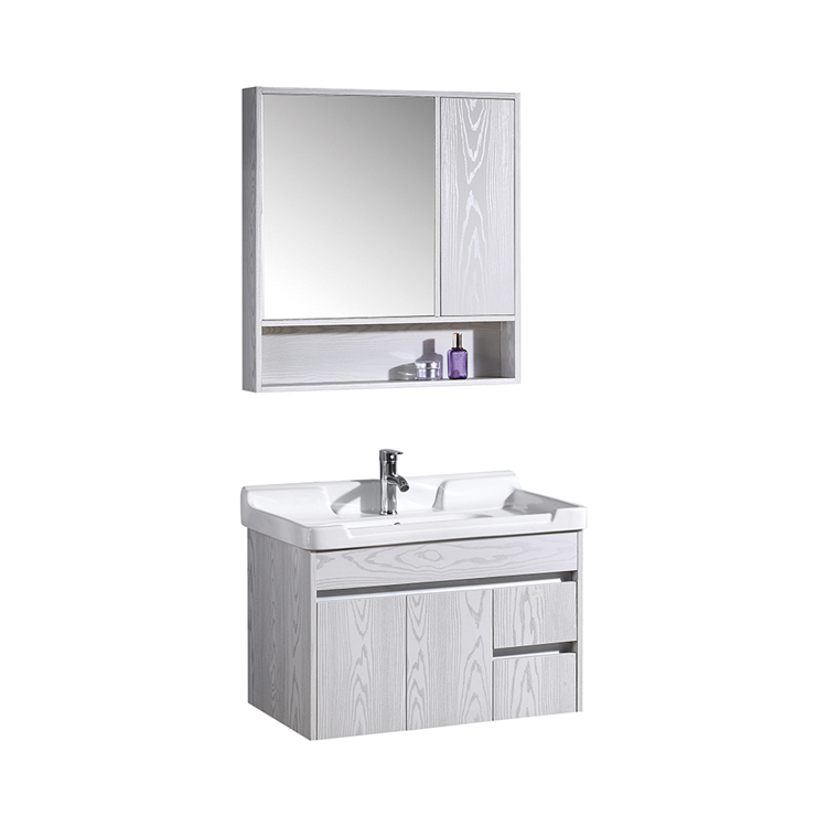 CBM New design Bathroom Modern Decor Double Sink Vanity cabinet with mirror