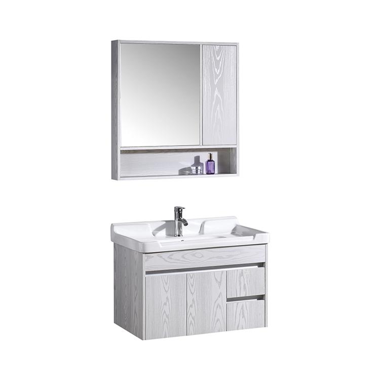 CBM New design Bathroom Modern Decor Double Sink Vanity cabinet with mirror