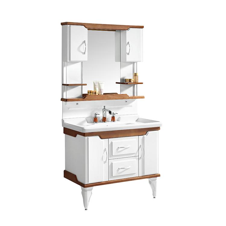 CBM Best hotel bath vanity cabinet corner with wash basin for decor