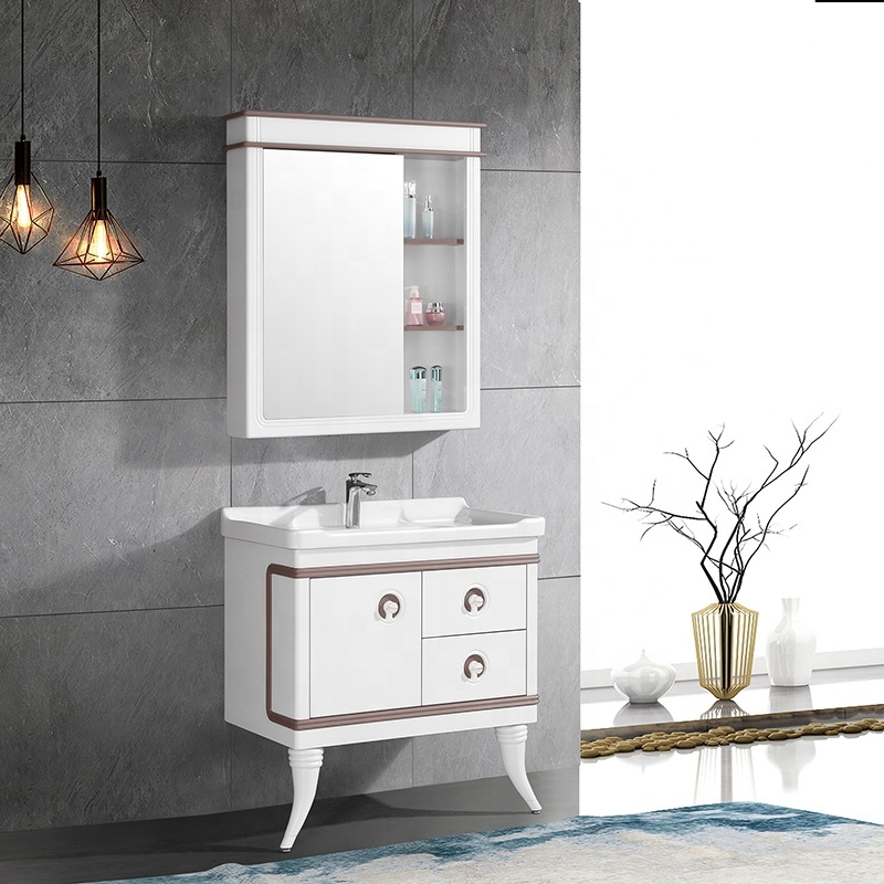 CBM Latest Design Luxury Vanity Golden Hotel Bathroom