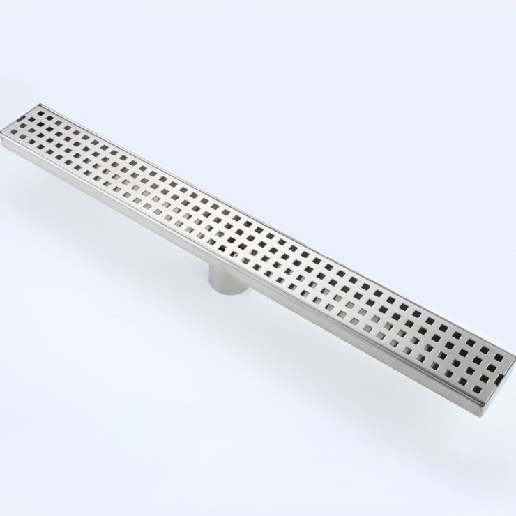 CBM S.S 304 Inserción de azulejos de acero inoxidable Linear Largo Piso Drenaje Drenaje Anti-Olor Drenaje