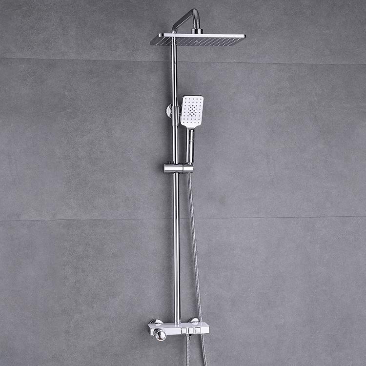 CBM chrome shower set  bathroom wholesale commercial bathroom shower set cheap stainless steel shower faucet