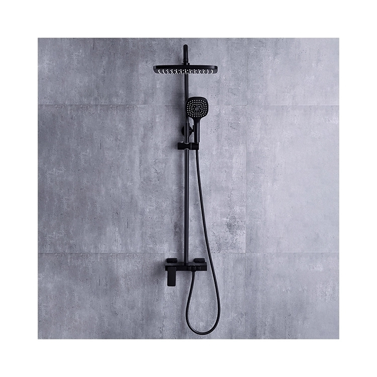 CBM black color shower set factory price bathroom wholesale commercial shower set cheap shower faucet