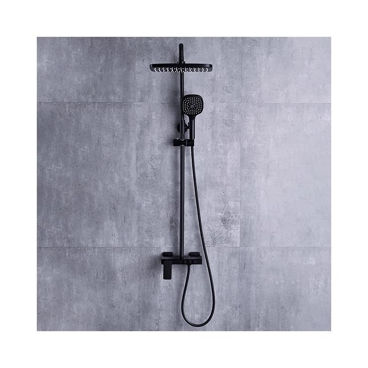 CBM black color shower set factory price bathroom wholesale commercial shower set cheap shower faucet