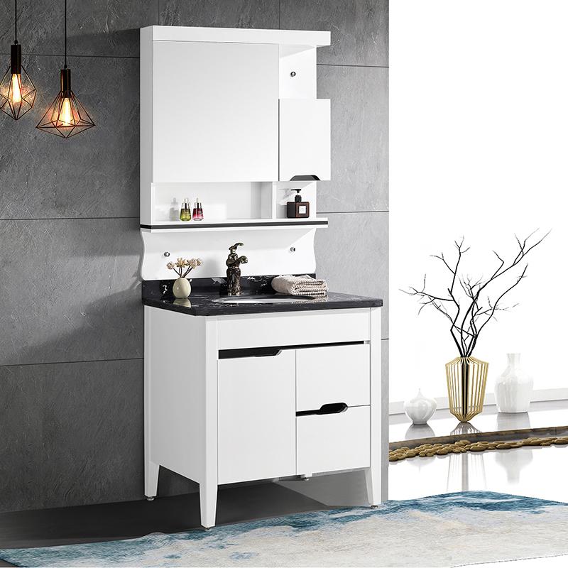 CBM pvc bathroom wash basin cabinet with mirror