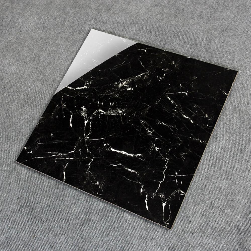 Black marble tile white veins glazed tiles 600*600
