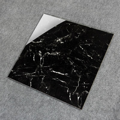 Black marble tile white veins glazed tiles 600*600