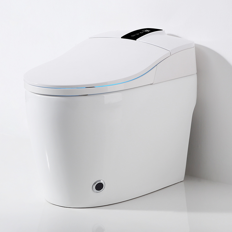 Supplier for automatic sensor flushing electric intelligent smart toilet housekeeper  Bathroom electric wc use for hotel intelligent closestool zero water pressure smart toilet CBM-i50