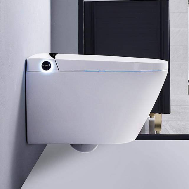 CBM-T3-1 Baño Cerámica White White Smart Electric WLL HUNG HUNG SENSOR AUTOMÁTICO FLUSHING SMART WATION SMART CON TANQUE OCOALED