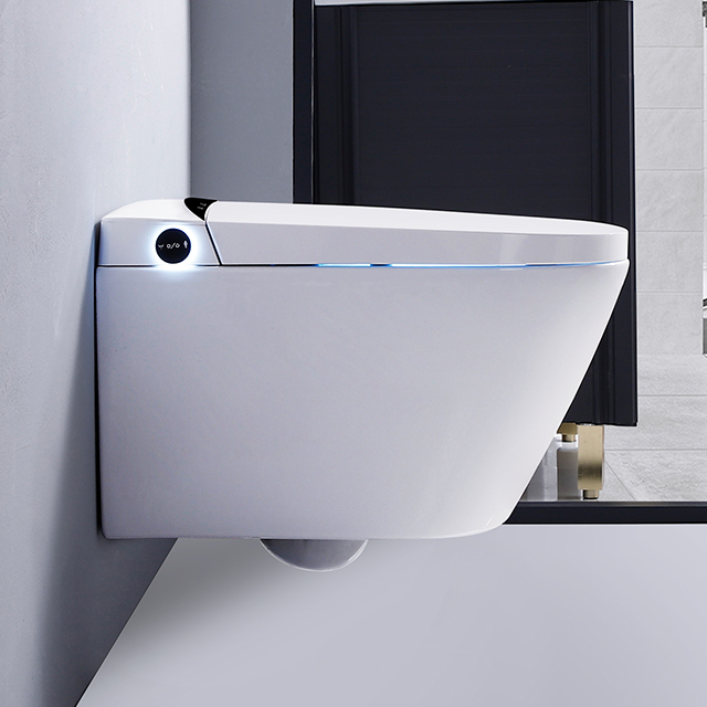 CBM-T3-1 Bathroom ceramic white smart electric toilet wll hung automatic sensor flushing  smart toilet with concealed tank