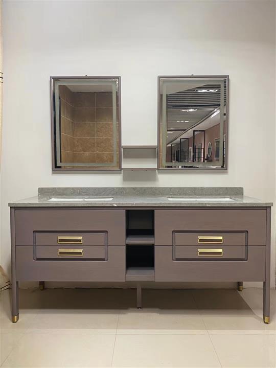 CBM New design customized manufacture full set solid wood bathroom vanity