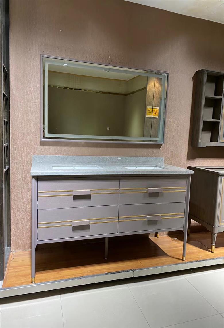 CBM modern style customized manufacture solid wood bathroom vanity