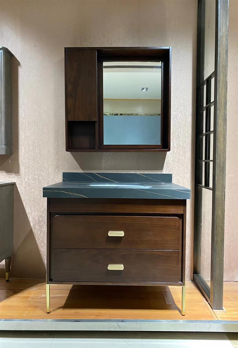 CBM classic customized manufacture solid wood bathroom vanity