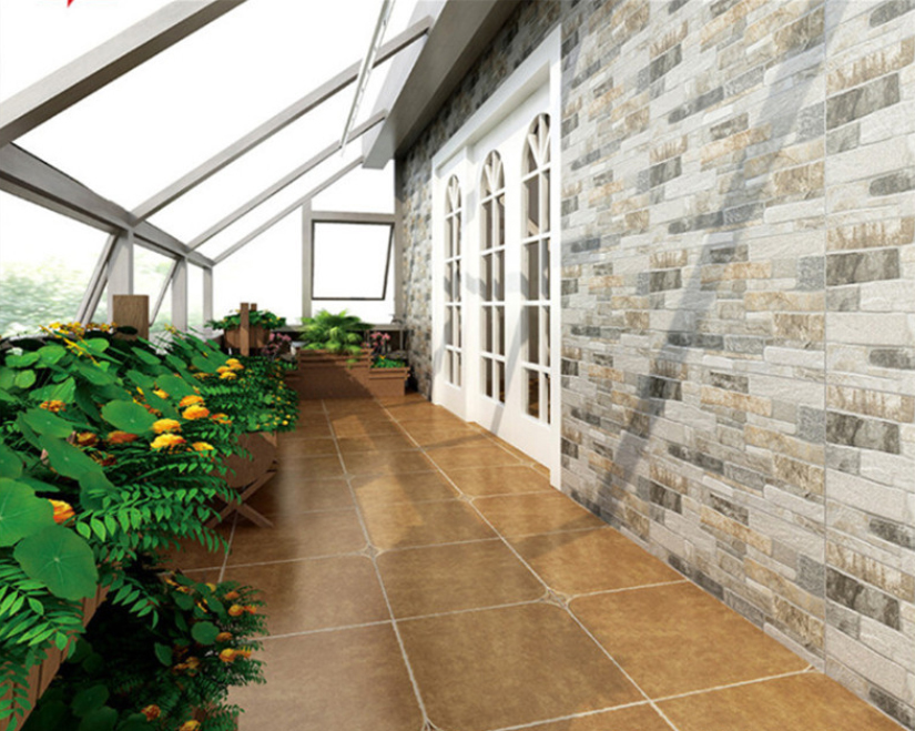 Outdoor wall tile painted 300x600 exterior ceramic tile